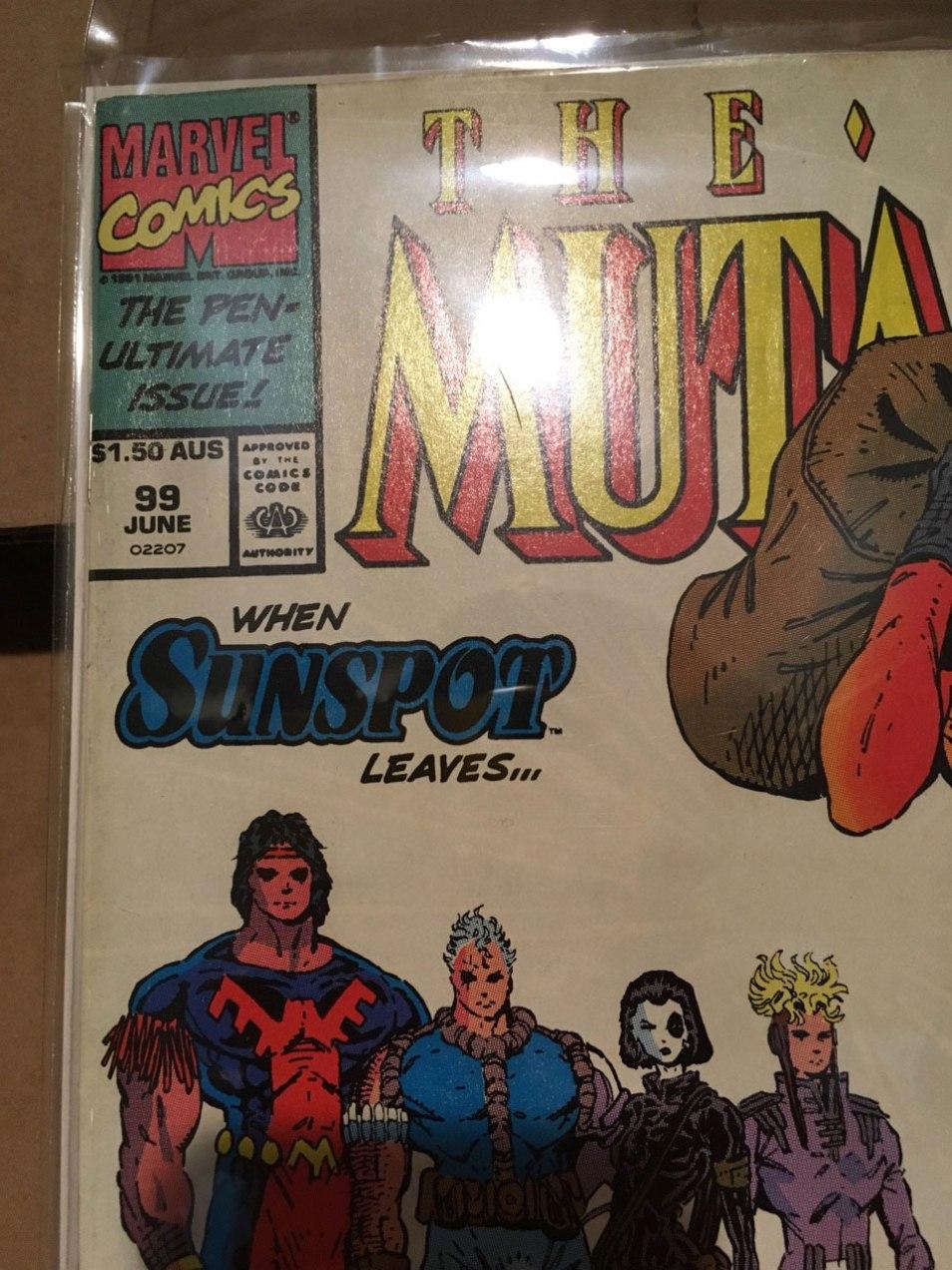 New Mutants #99, $1.50 AUS variant