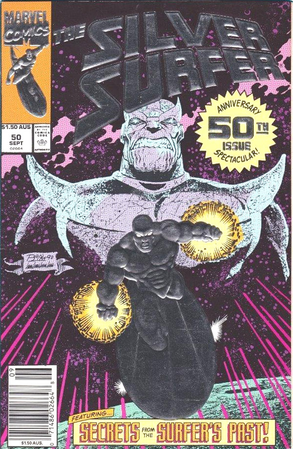 Silver Surfer #50, $1.50 AUS cover price.