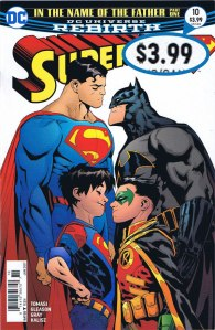Superman #10, $3.99 Newsstand Edition (regular copies were $2.99).