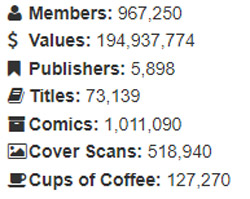 ComicsPriceGuide has a current count of 967,250 members