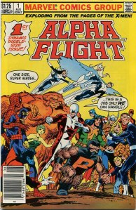 Alpha Flight #1, Type 1A $1.25 Cover Price Variant