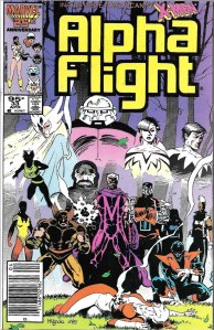 Alpha Flight #33, Type 1A 95 Cent Cover Price Variant