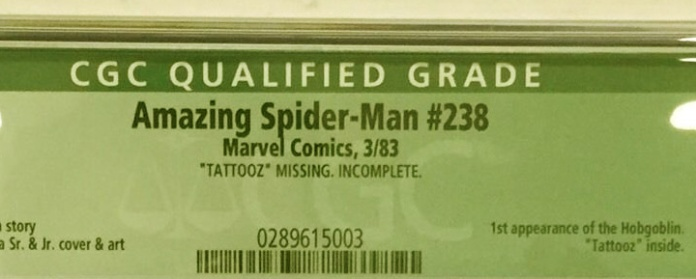 Amazing Spider-Man #238, CGC Qualified Grade: