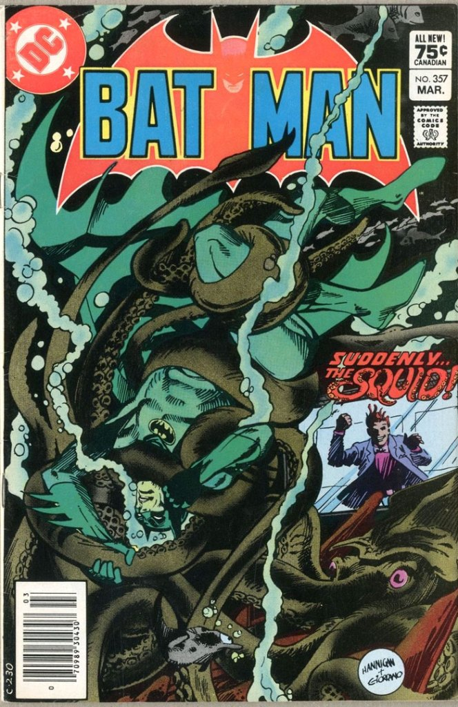 Batman #357, Type 1A 75 Cent Cover Price Variant