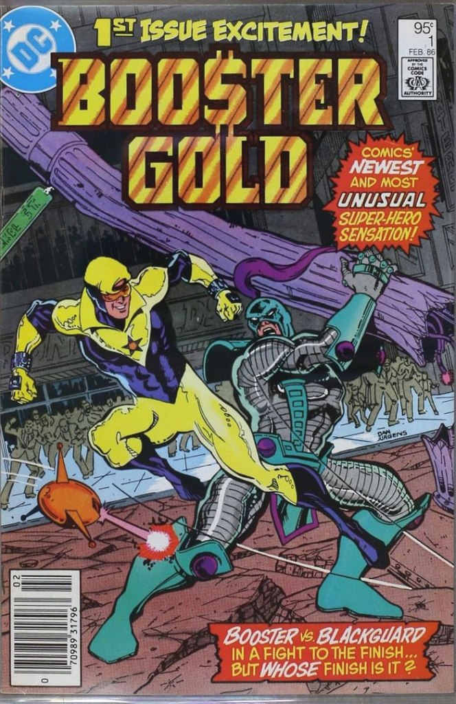 Booster Gold #1, Type 1A 95 Cent Cover Price Variant