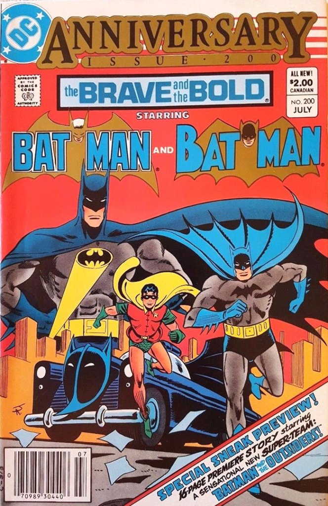 The Brave and the Bold #200, Type 1A $2.00 Cover Price Variant