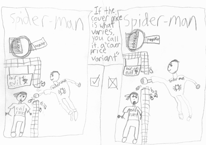 """""""Cover Price Variant"""" explained by my 8-year-old"""