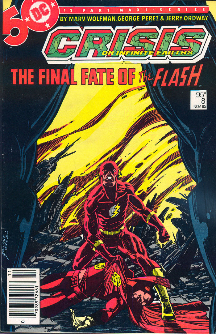 Crisis on Infinite Earths #8, Type 1A 95 Cent Cover Price Variant