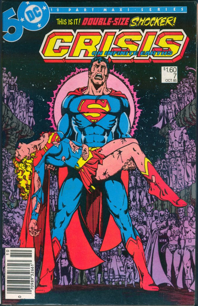 Crisis on Infinite Earths #7, Type 1A $1.60 Cover Price Variant