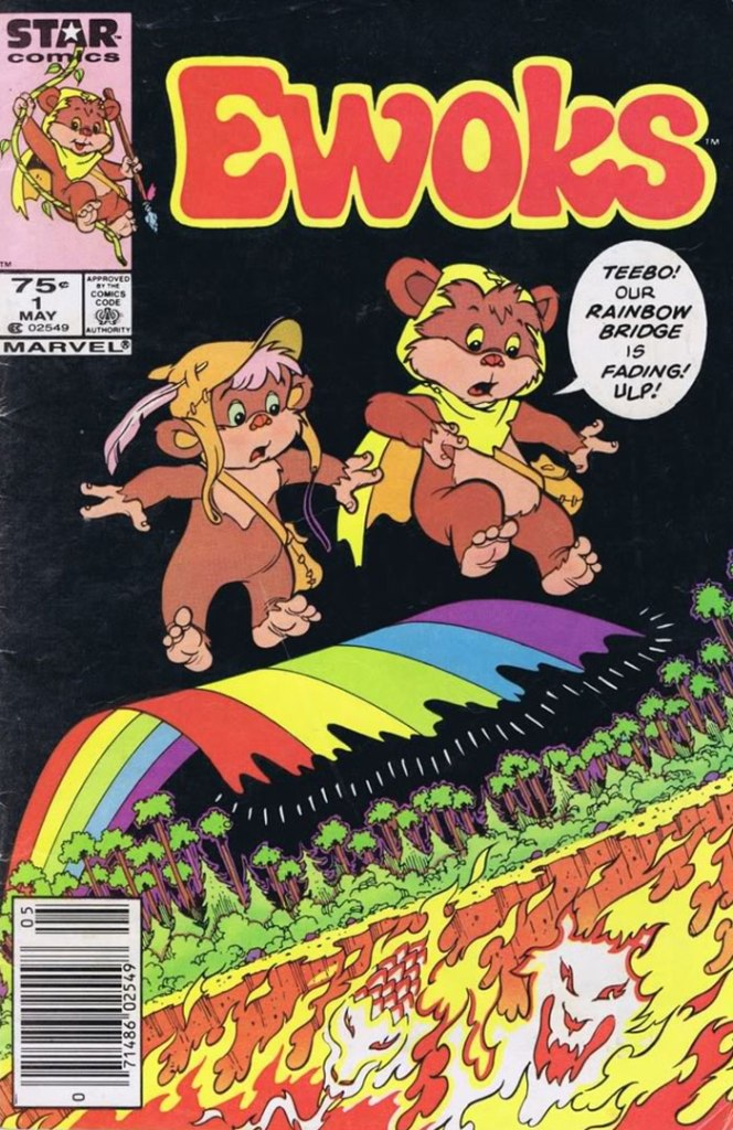 Ewoks #1, Type 1A 75 Cent Cover Price Variant