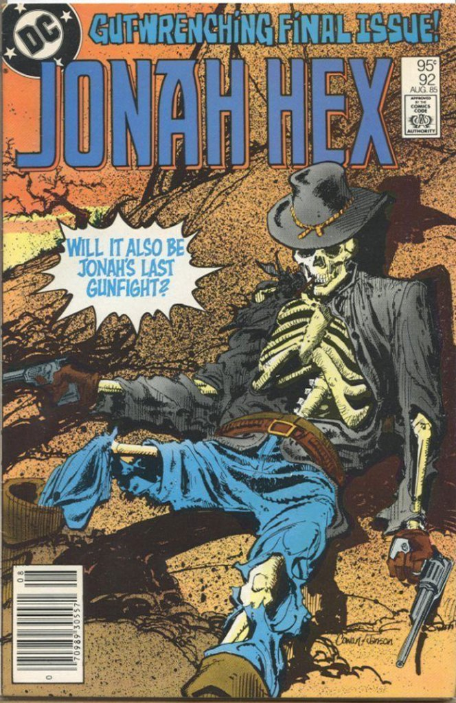 Jonah Hex #92, Type 1A 95 Cent Cover Price Variant