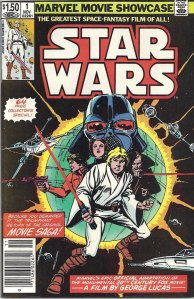 Marvel Movie Showcase: Star Wars #1, Type 1A $1.50 Cover Price Variant