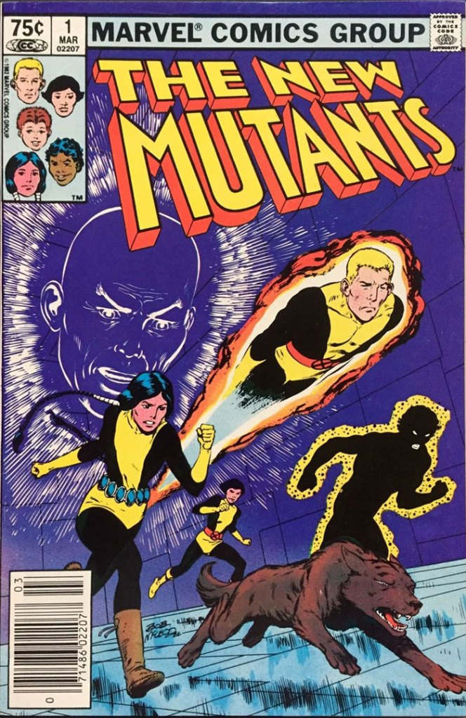 New Mutants #1, Type 1A 75 Cent Cover Price Variant