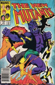 New Mutants #14, Type 1A 75 Cent Cover Price Variant