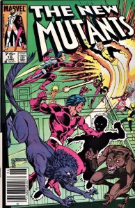 New Mutants #16, Type 1A 75 Cent Cover Price Variant