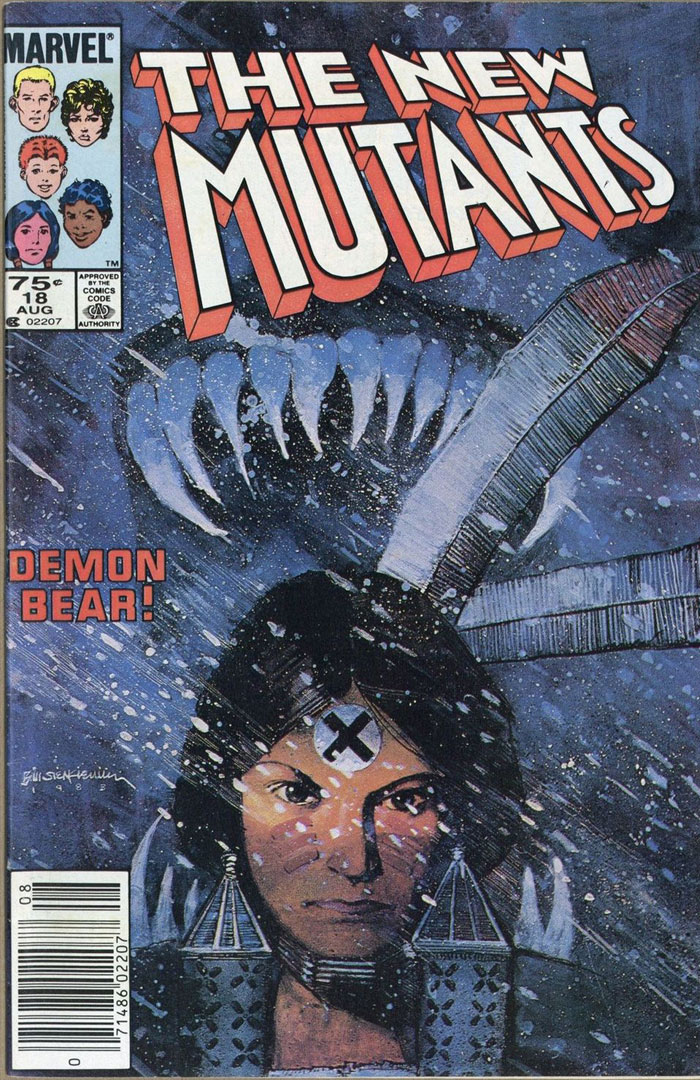 New Mutants #18, Type 1A 75 Cent Cover Price Variant