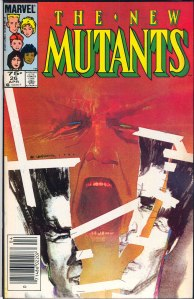 New Mutants #26, Type 1A 75 Cent Cover Price Variant