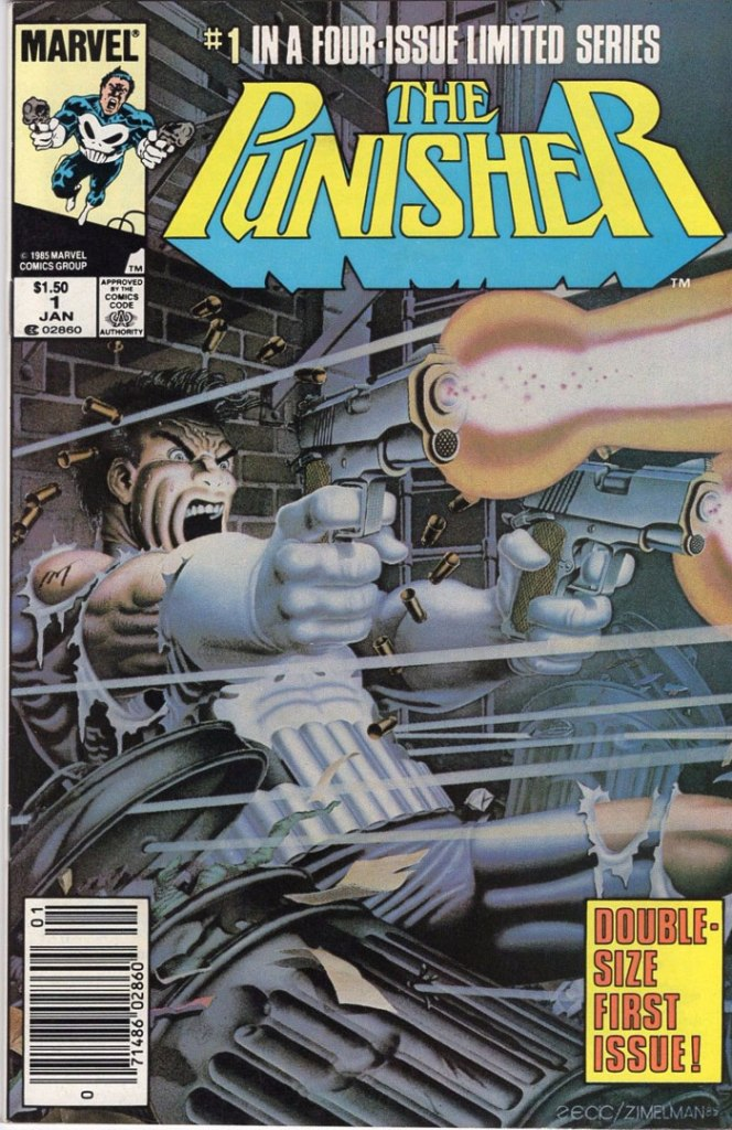The Punisher Limited Series #1, Type 1A $1.50 Cover Price Variant