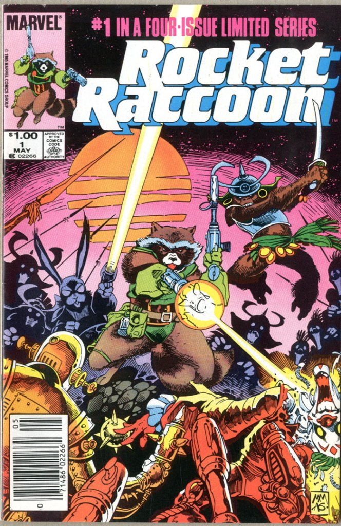 Rocket Raccoon #1, Type 1A $1.00 Cover Price Variant
