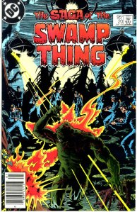 Saga of the Swamp Thing #20, Type 1A 95 Cent Cover Price Variant