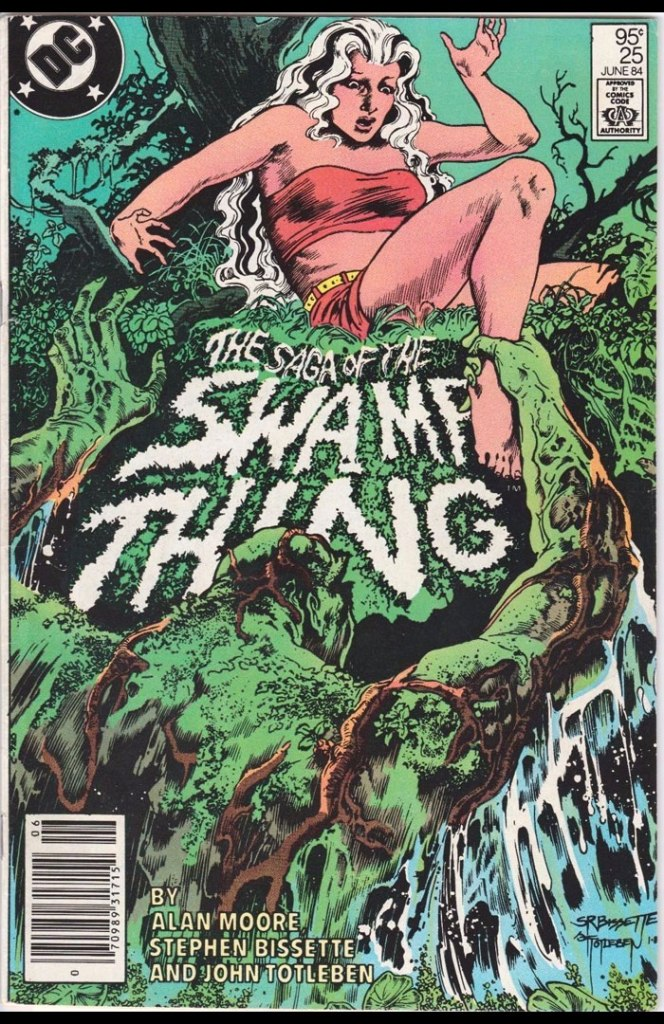 Saga of the Swamp Thing #25, Type 1A 95 Cent Cover Price Variant