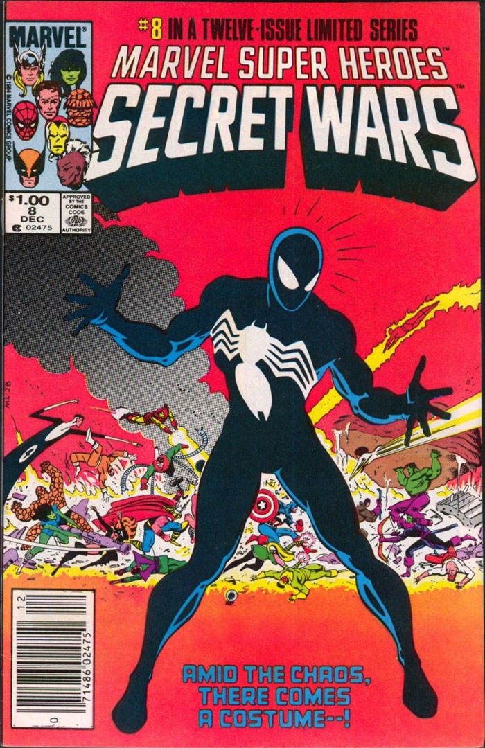 Marvel Super Heroes Secret Wars #8, Type 1A $1.00 Cover Price Variant