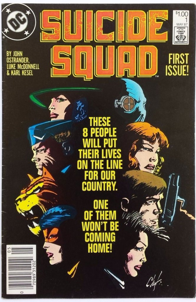 Suicide Squad #1, Type 1A $1.00 Cover Price Variant