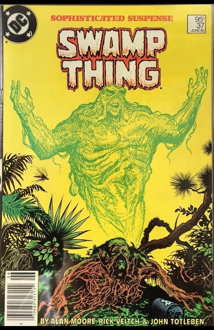 Saga of the Swamp Thing #37, Type 1A 95 Cent Cover Price Variant