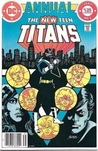 New Teen Titans Annual #2, Type 1A $1.25 Cover Price Variant