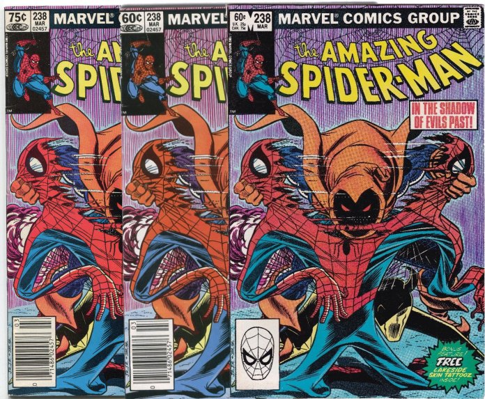There are three types of copies of Amazing Spider-Man #238. Nobody can agree on what to call them.