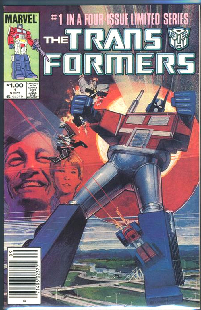 1st SERIES 1984 TRANSFORMERS #14 VF//NM MARVEL COMICS 1st GRAPPLE HOIST SKIDS