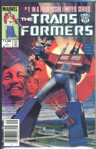 Transformers #1, Type 1A $1.00 Cover Price Variant