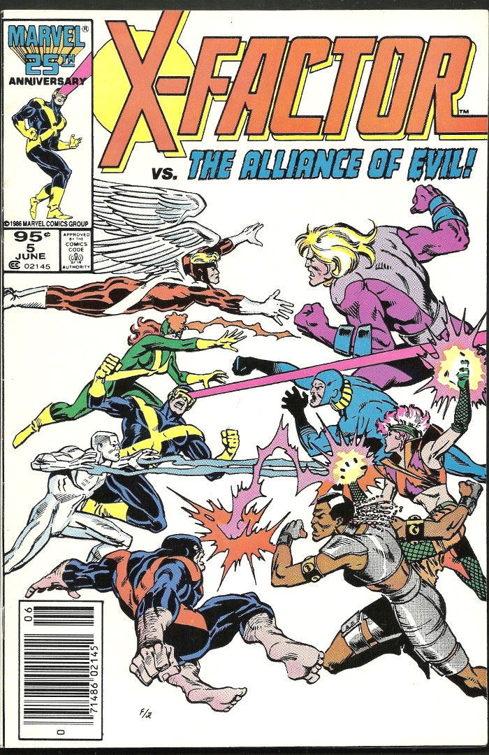 X-Factor #5, Type 1A 95 Cent Cover Price Variant