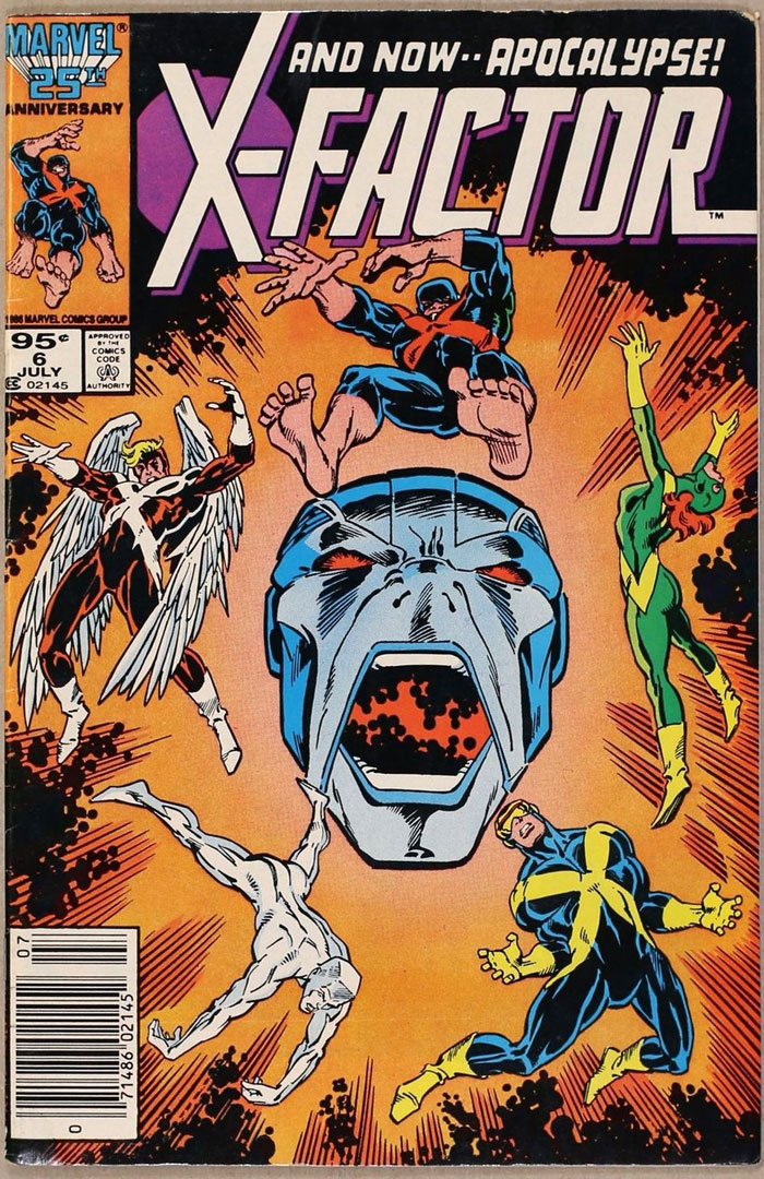 X-Factor #6, Type 1A 95 Cent Cover Price Variant