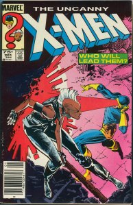 Uncanny X-Men #201, Type 1A 75 Cent Cover Price Variant