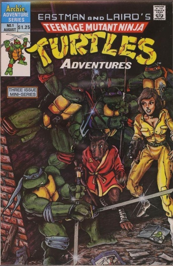 Teenage Mutant Ninja Turtles Adventures #1, $1.25 Cover Price, Direct Edition