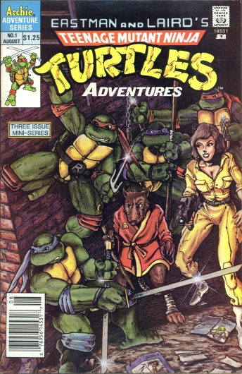 Teenage Mutant Ninja Turtles Adventures #1, $1.25 Cover Price, Newsstand