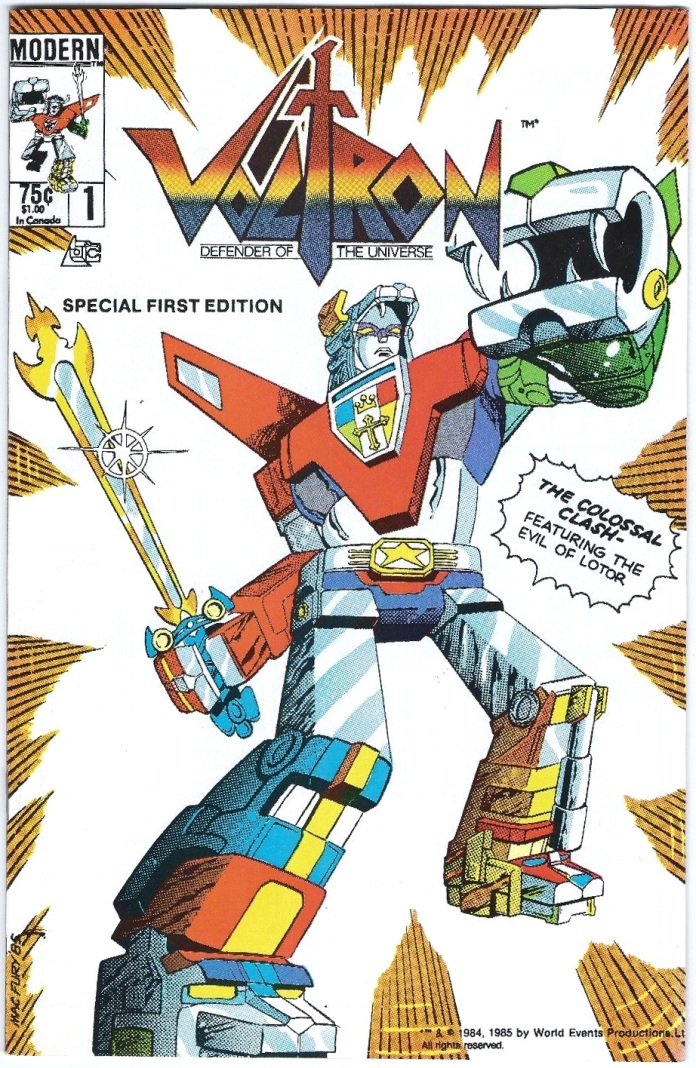 Voltron #1, Direct Edition example