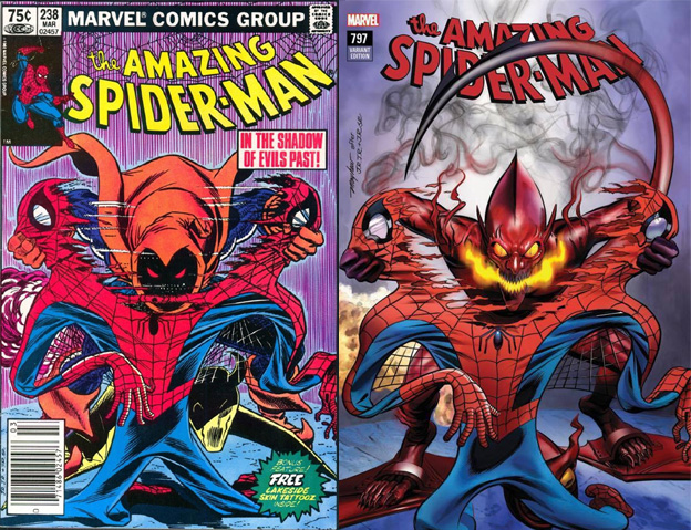 Amazing Spider-Man 238 Cover Swipe: Amazing Spider-Man 797