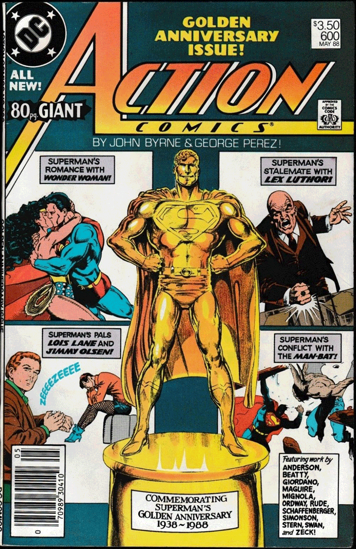 Action Comics #600, Type 1A $3.50 Cover Price Variant; Canadian Newsstand