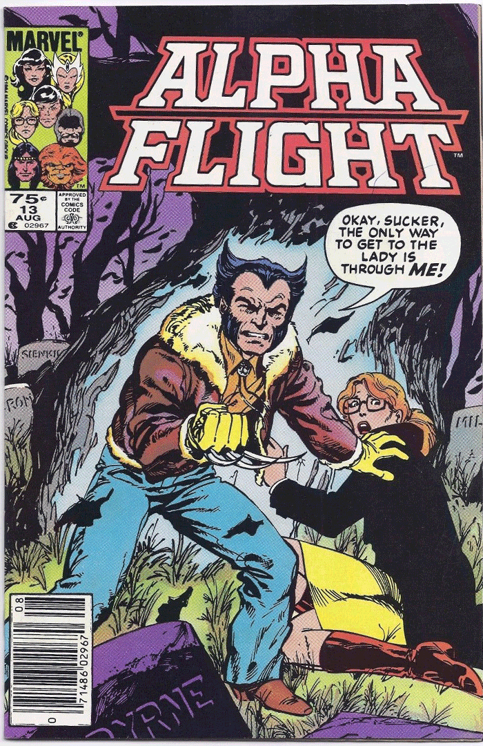Alpha Flight #13, Type 1A 75¢ Cover Price Variant; Canadian Newsstand