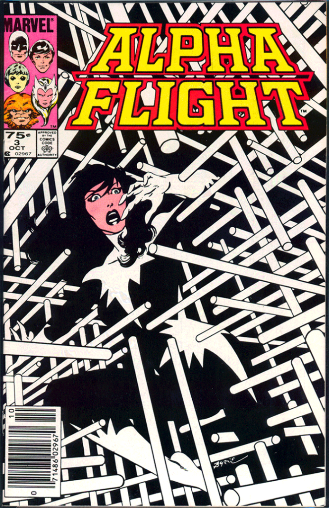 Alpha Flight #3, Type 1A 75¢ Cover Price Variant; Canadian Newsstand