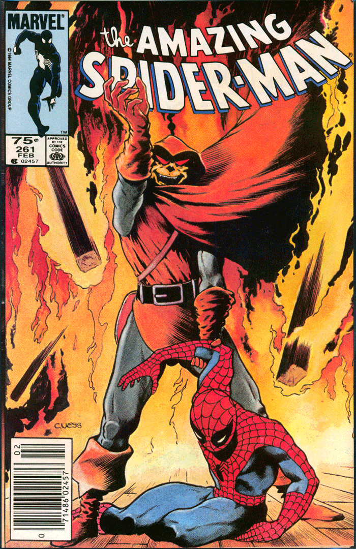 Amazing Spider-Man #261, Type 1A 75¢ Cover Price Variant; Canadian Newsstand