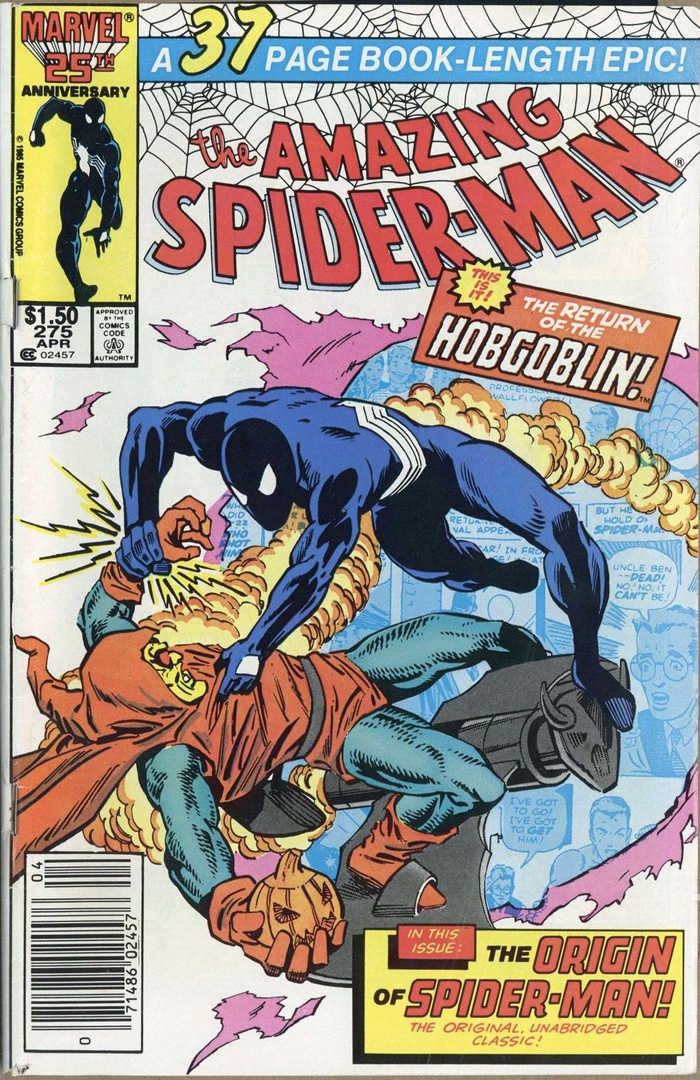 Amazing Spider-Man #275, Type 1A $1.50 Cover Price Variant; Canadian Newsstand