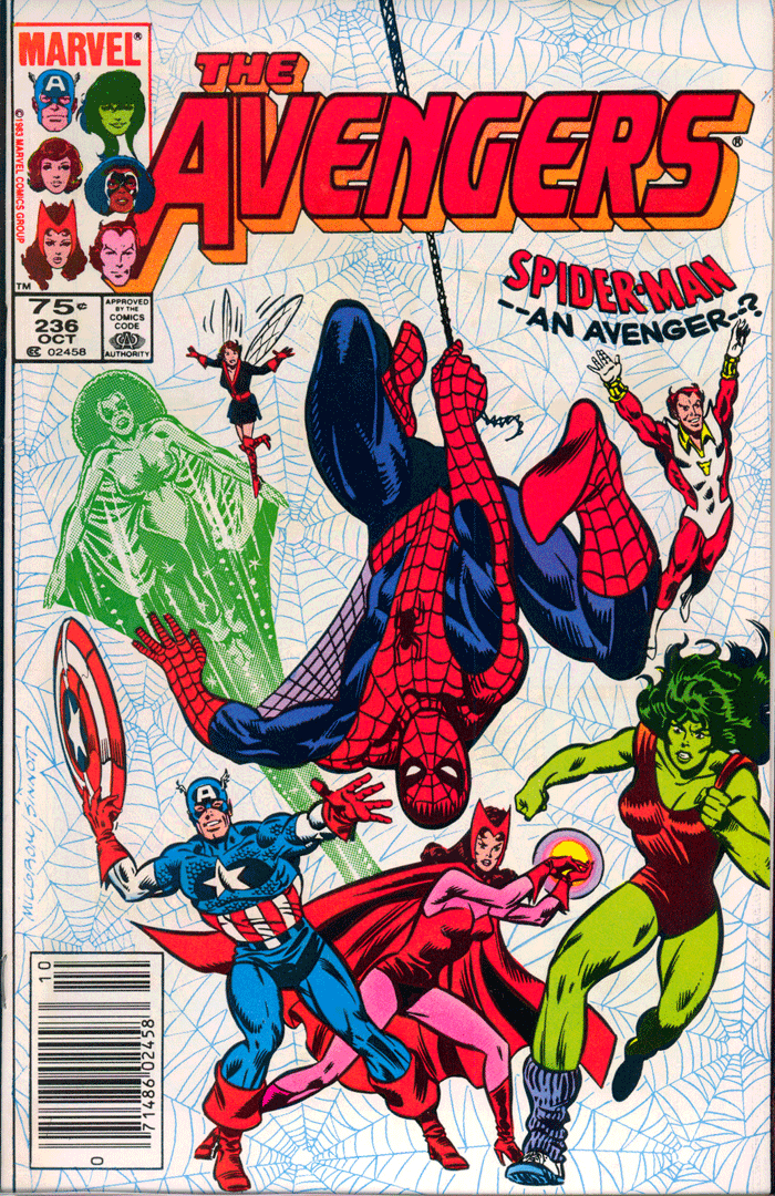Avengers #236, Type 1A 75¢ Cover Price Variant; Canadian Newsstand