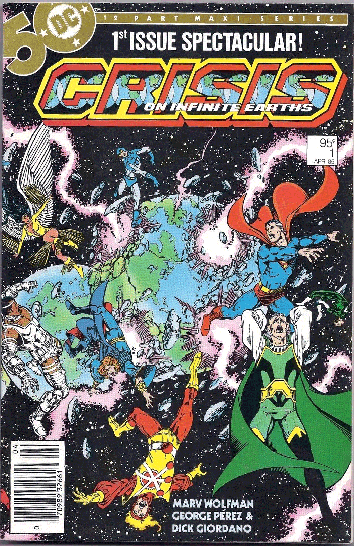 Crisis on Infinite Earths #1, Type 1A 95¢ Cover Price Variant; Canadian Newsstand