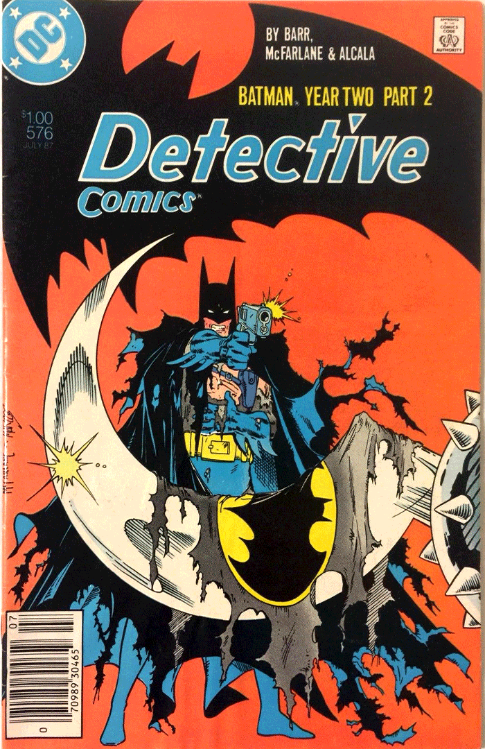 Detective Comics #576, Type 1A $1.00 Cover Price Variant; Canadian Newsstand