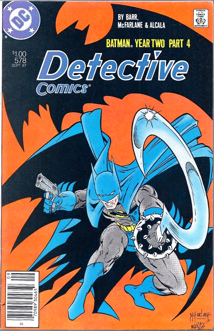 Detective Comics #578, Type 1A $1.00 Cover Price Variant; Canadian Newsstand