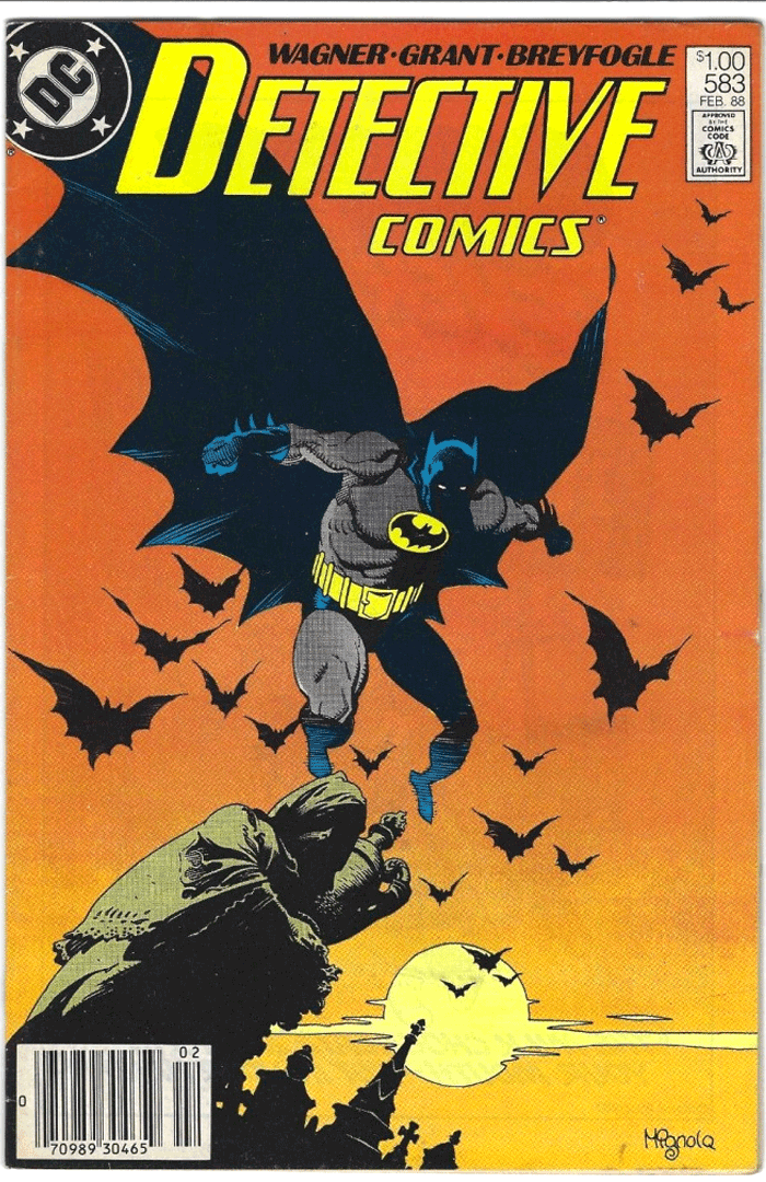 Detective Comics #583, Type 1A $1.00 Cover Price Variant; Canadian Newsstand