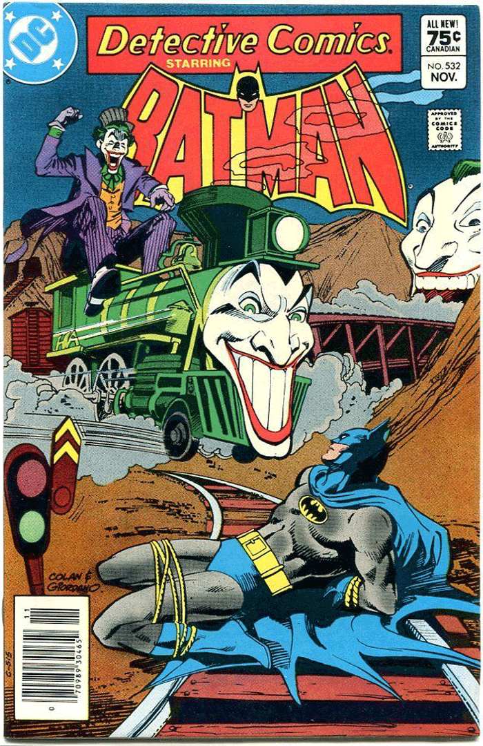 Detective Comics #532, Type 1A 75¢ Cover Price Variant; Canadian Newsstand